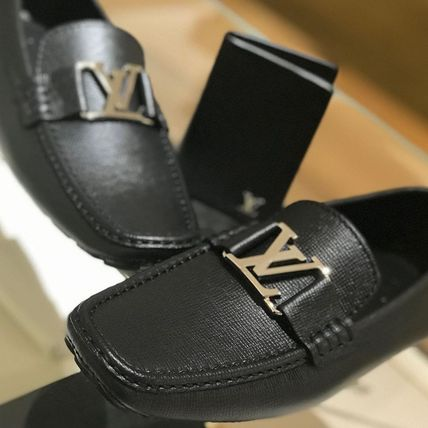 Louis Vuitton Loafers & Slip-ons Plain Toe Moccasin Blended Fabrics Plain Leather 2