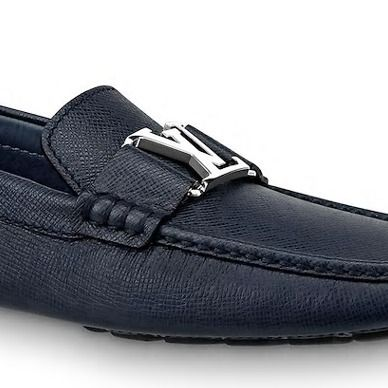 Louis Vuitton Loafers & Slip-ons Plain Toe Moccasin Blended Fabrics Plain Leather 8