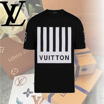 Louis Vuitton Crew Neck Cotton Short Sleeves Crew Neck T-Shirts