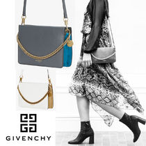 GIVENCHY CROSS3 Lambskin Blended Fabrics 3WAY Bi-color Chain Plain