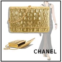CHANEL 2019-20AW CLASSIC CHAIN WALLET gold wallets