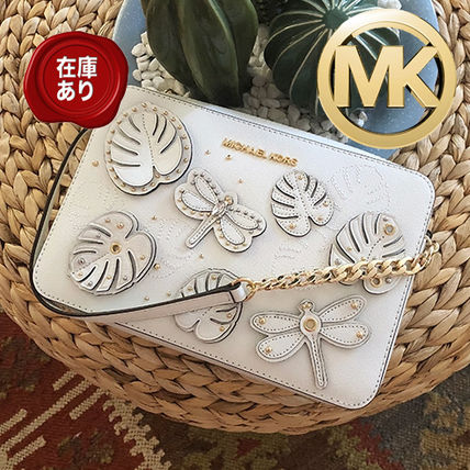 Michael Kors JET SET TRAVEL 2019 SS Flower Patterns Tropical Patterns Leather Elegant Style