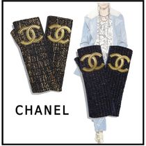 CHANEL 2019-20AW GLOVES dark gold & black, navy blue & gold gloves