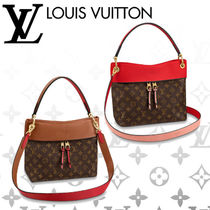 Louis Vuitton TUILERIES Monogram Casual Style Blended Fabrics Tassel 3WAY Leather
