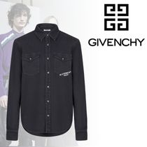GIVENCHY Long Sleeves Plain Cotton Long Sleeve T-Shirts