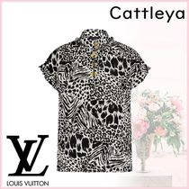 Louis Vuitton Silk Short Sleeves Shirts & Blouses