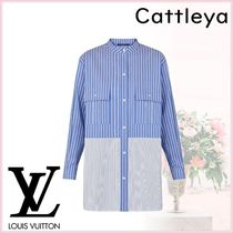 Louis Vuitton Stripes Long Sleeves Cotton Shirts & Blouses