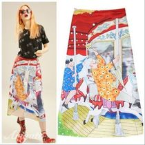 ELF SACK Casual Style Street Style Long Maxi Skirts