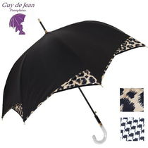 Guy de Jean Leopard Patterns Zigzag Umbrellas & Rain Goods