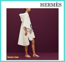 HERMES Flower Patterns Plain Swimwear