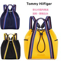 Tommy Hilfiger Casual Style Unisex Bi-color Purses Backpacks