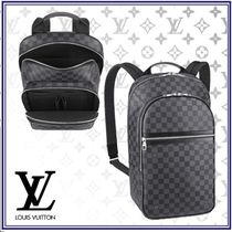 Louis Vuitton DAMIER GRAPHITE Leather Backpacks