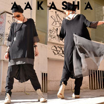 Aakasha Plain Long Short Sleeves Handmade Tunics