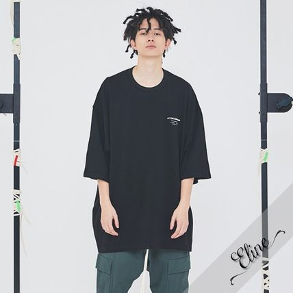 Crew Neck Pullovers Street Style Cotton Short Sleeves
