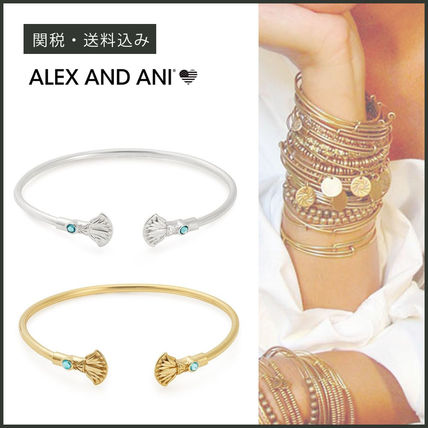 Bangles Casual Style Unisex With Jewels 14K Gold Bracelets