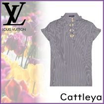 Louis Vuitton Stripes Short Sleeves Shirts & Blouses