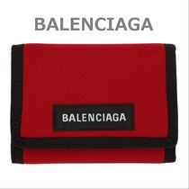 BALENCIAGA Nylon Street Style Plain Folding Wallets