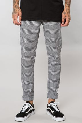 Tapered Pants Other Plaid Patterns Zigzag Street Style