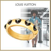 Louis Vuitton Blended Fabrics 18K Gold With Jewels Elegant Style Fine