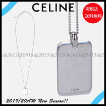 CELINE Unisex Blended Fabrics Silver Necklaces & Chokers