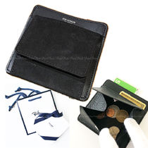Ron Herman Unisex Plain Leather Coin Cases
