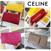 CELINE Zipped Leather Long Wallets