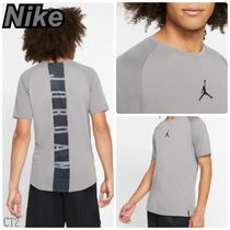 Nike AIR JORDAN Unisex Street Style U-Neck Plain Short Sleeves T-Shirts