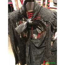 GUCCI Flower Patterns Long Sleeves Plain Lace Shirts & Blouses