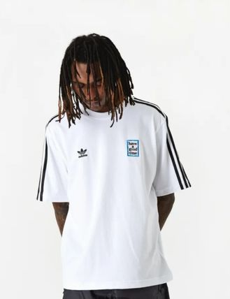 adidas More T-Shirts Street Style Collaboration Short Sleeves Oversized T-Shirts