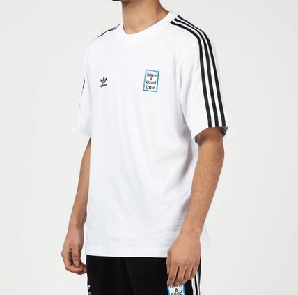 adidas More T-Shirts Street Style Collaboration Short Sleeves Oversized T-Shirts 4