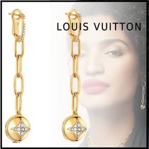 Louis Vuitton MONOGRAM 19-20AW B BLOSSOM EARRINGS gold free pierces