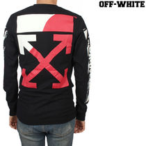 Off-White Street Style Long Sleeves Plain Cotton Long Sleeve T-Shirts