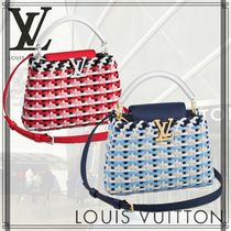 Louis Vuitton TAURILLON 2WAY Leather Straw Bags