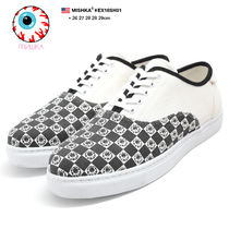 MISHKA Other Check Patterns Monogram Unisex Street Style Sneakers