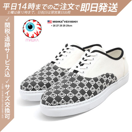 Other Plaid Patterns Monogram Unisex Street Style Sneakers