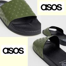 ASOS Star Faux Fur Shower Shoes Shower Sandals