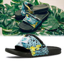 Nike BENASSI Tropical Patterns Street Style Shower Shoes Shower Sandals