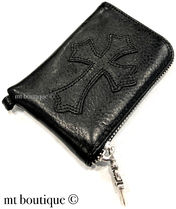 CHROME HEARTS CEMETERY CROSS Coin Cases