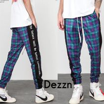 Dezzn Printed Pants Other Check Patterns Unisex Street Style