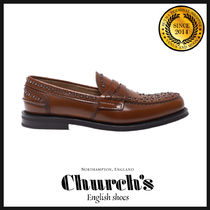 Church's Loafers Studded Leather Loafers & Slip-ons