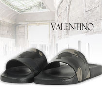 VALENTINO Camouflage Street Style Shower Shoes Shower Sandals