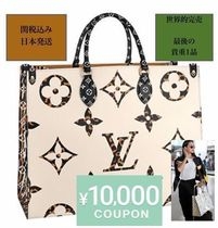 Louis Vuitton MONOGRAM Unisex Collaboration A4 2WAY Totes
