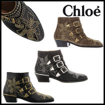 Chloe Studded Other Animal Patterns Leather With Jewels