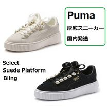 PUMA Platform Casual Style Suede Blended Fabrics Plain