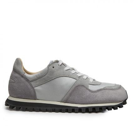 Unisex Street Style Collaboration Leather Sneakers