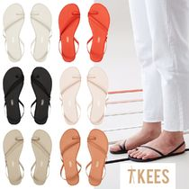 "TKEES *TKEES* Leather Strap Sandals ""LC"""