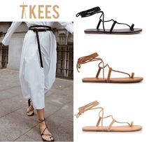 TKEES Open Toe Casual Style Plain Sandals Sandal