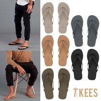 TKEES Faux Fur Plain Sandals