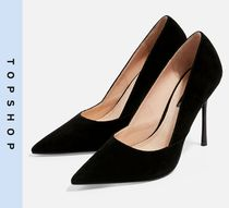 TOPSHOP Casual Style Suede High Heel Pumps & Mules
