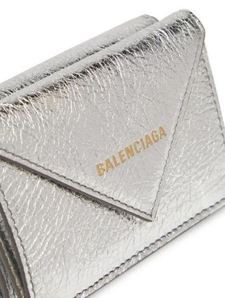 BALENCIAGA Folding Wallets Unisex Calfskin Blended Fabrics Plain Folding Wallets 4